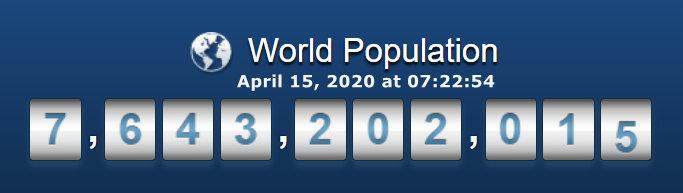 World Population April 15 at 07h22m54s