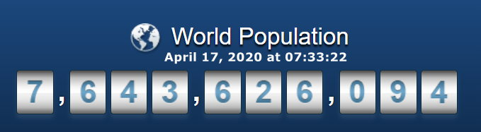 World Population - April 17 at 07h33m22s