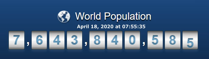 World Population - April 18, 2020 at 07h55m35s