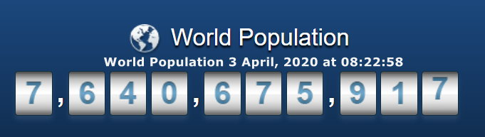 World Population - April 3, 2020 at 08h22m58s