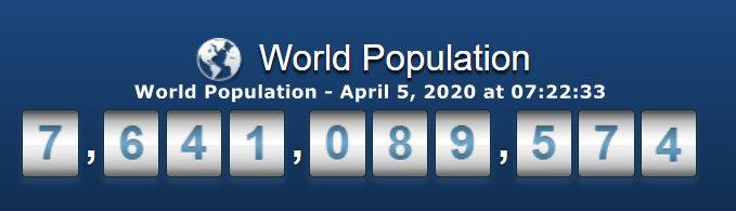 World Population April 5, 2020 at 07h22m33s
