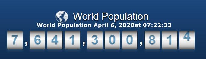 World Population - April 6, 2020