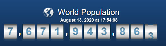 World Population - August 13 at 6PM