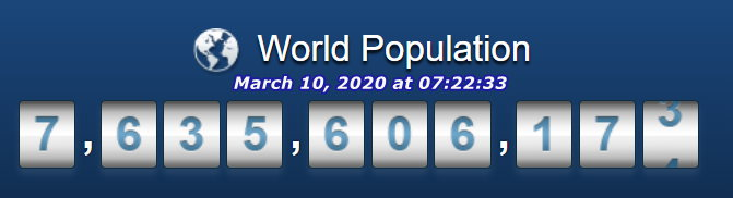 World Population March 10 at 07h22m33s