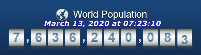 World Population - March 13, 2020 at 07h23m10