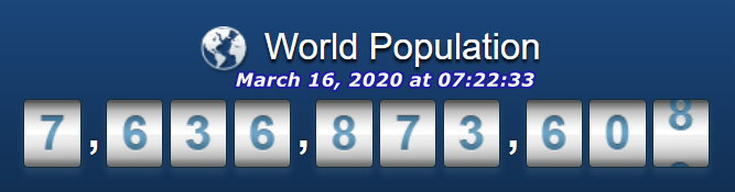 World Population - March 16 at 07h22m33s