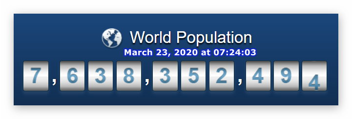 World population - March 23