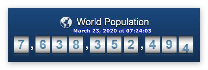 World population - March 23