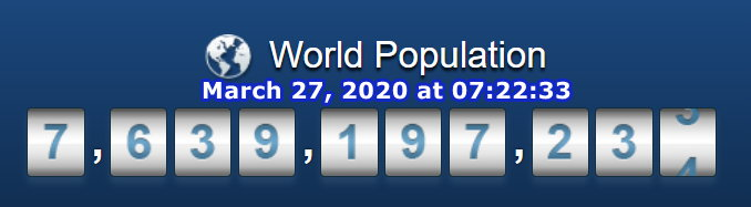 World Population - March 27 at 07h22m33s