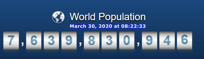 World Population - March 30 at 08h22m33s