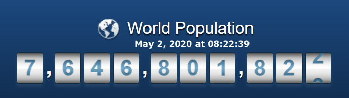 World Population - May 2, 2020 at 08h22m39s