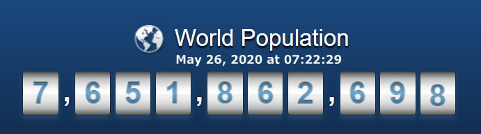 World Population - May 26, 2020 at 07h22m29s