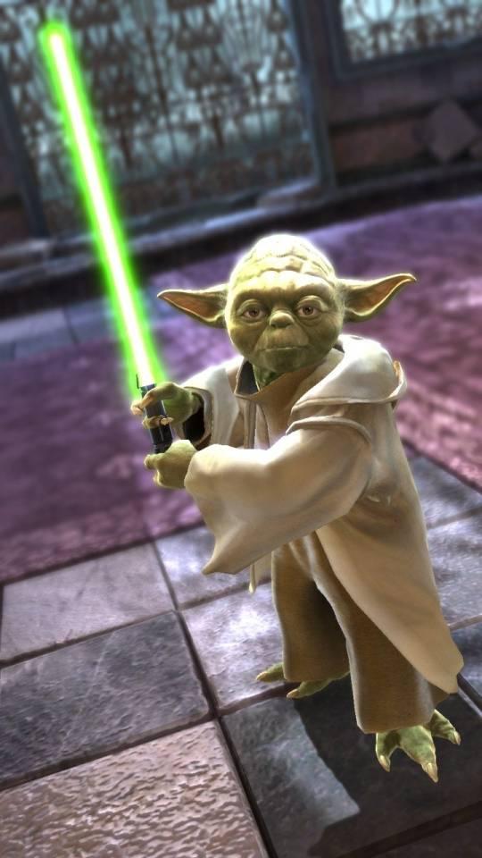 Yoda with light sword