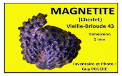 Grain de sable magnétisé à Senèze 43
