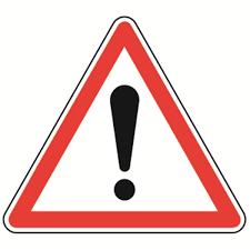 Panneau Point d'exclamation, Autres dangers, A14 - Direct Signalétique
