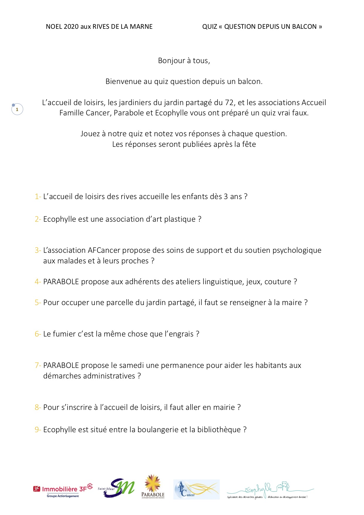 Quiz Noël 2020 page 1