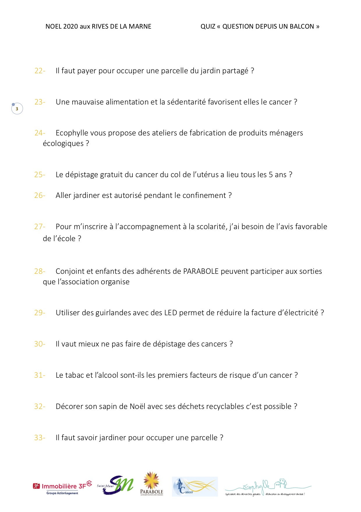 Quiz Noël page 3