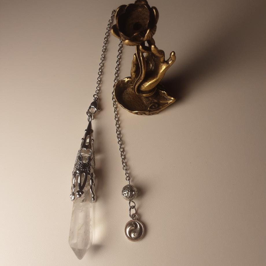 Pendule Cristal de roche nicole pierret