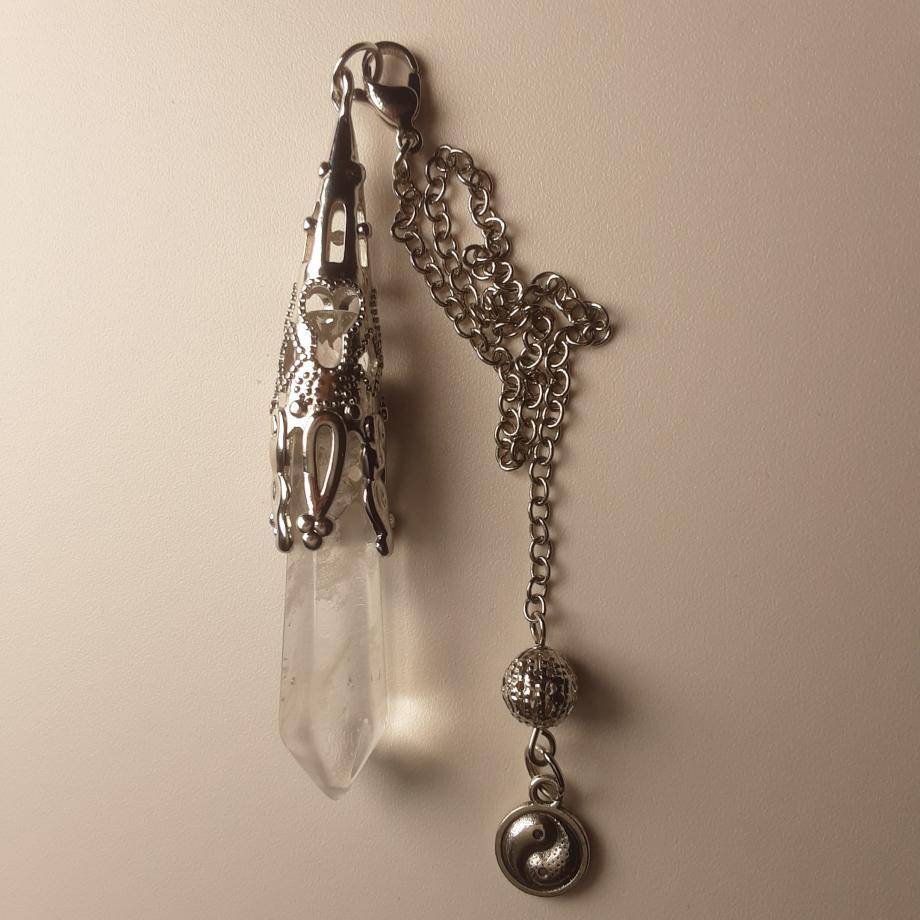 Pendule Cristal de roche pierret nicole