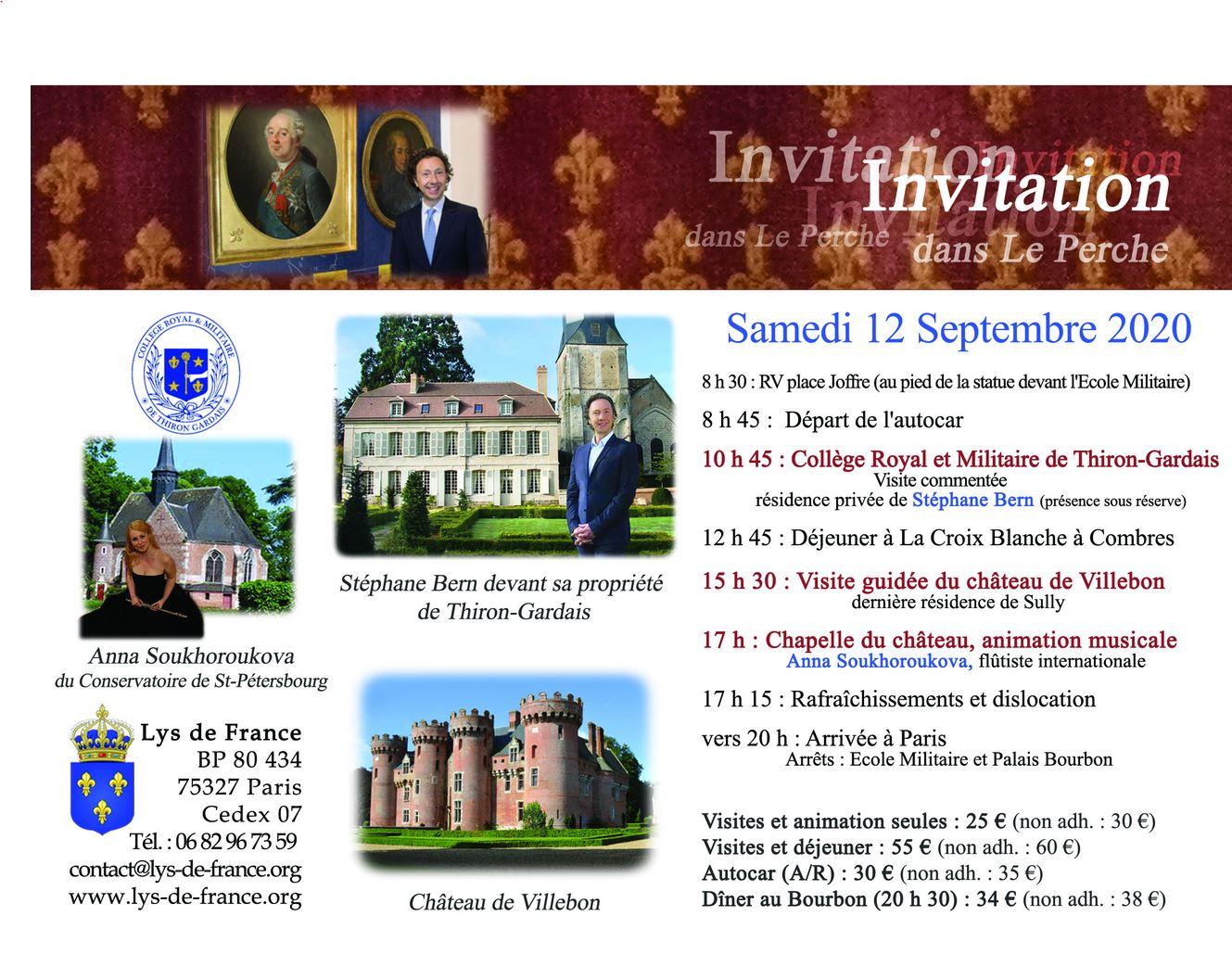 Invitation du 12 Septembre