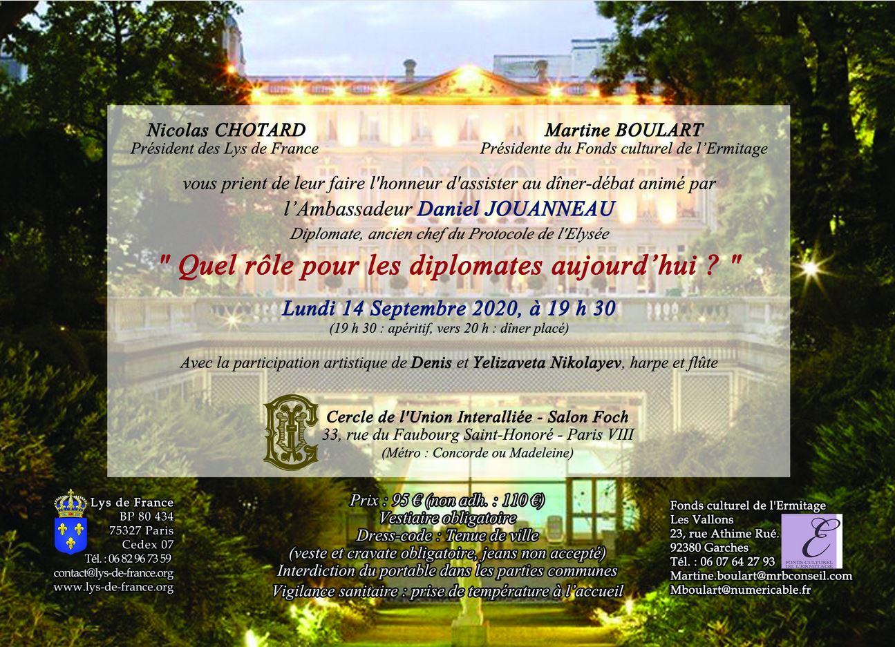 Invitation Lundi 14 Septembre 2020