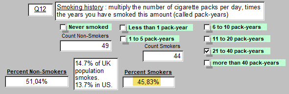 11) Q12 - Smoking Hx - 4 October