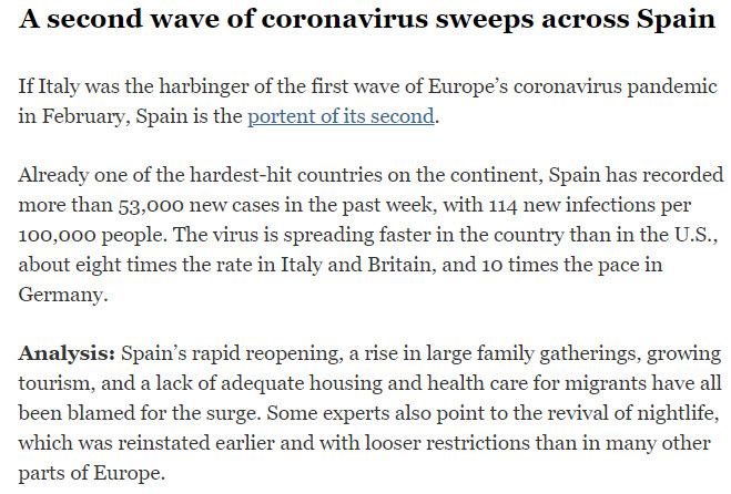 Spain\\\'s second wave