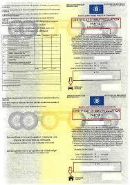 Certificat de conformité pour voiture belge