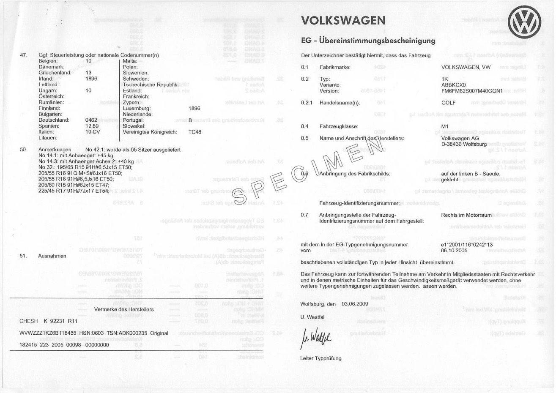 Certificat de Conformité Constructeur et carte grise