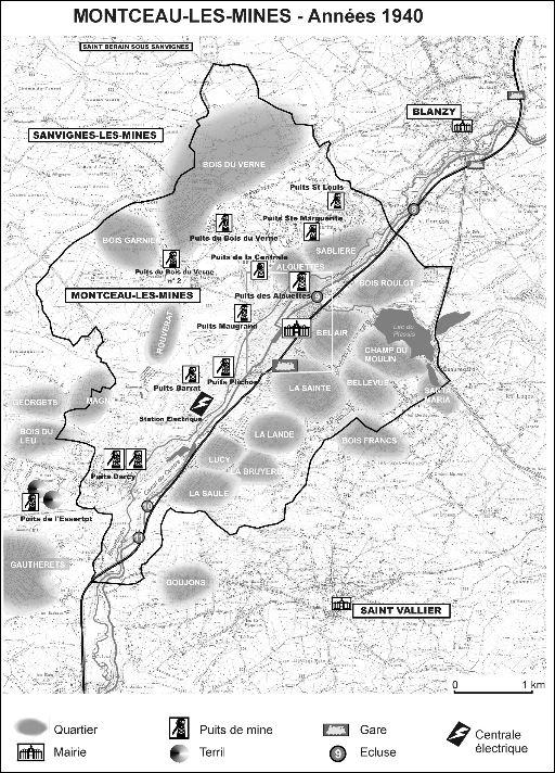 Carte Montceau - années 40