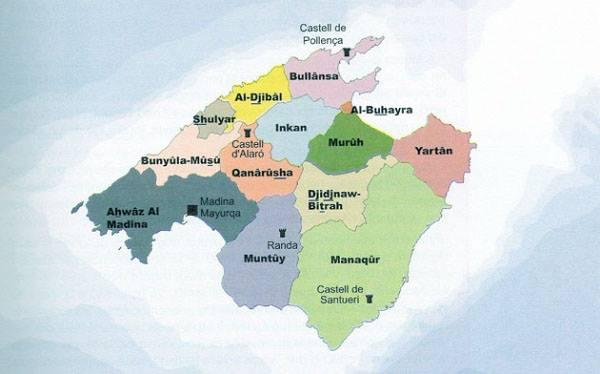 Carte de Mallorca sous domination maure *