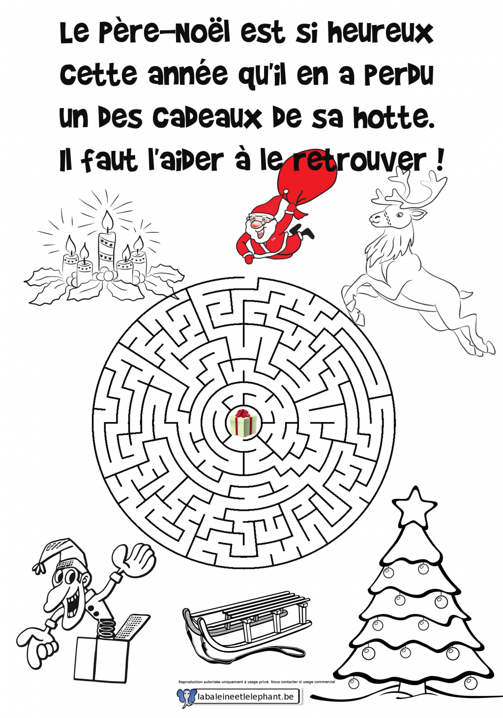 labyrinthe02 coloriage pere_noel