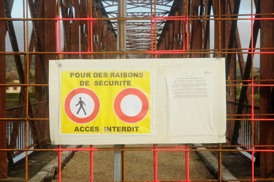 04 - Pont du Garrit fermé
