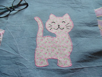 applique chat couture