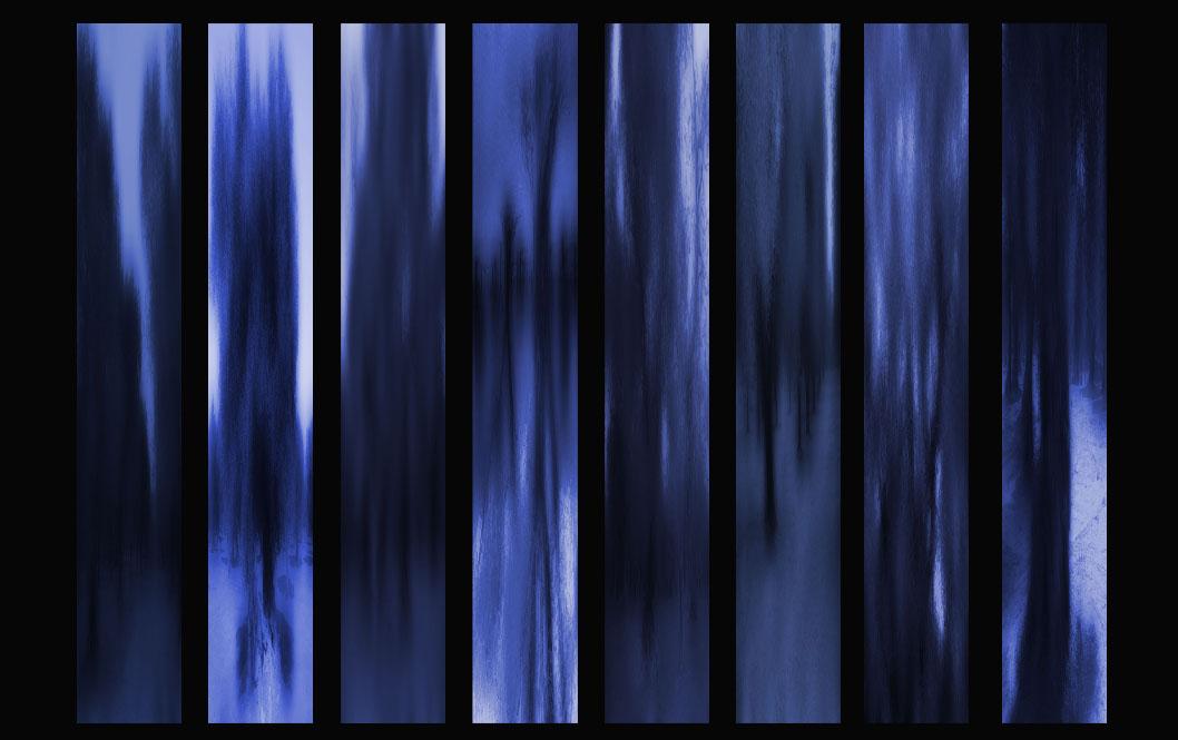 Oliviers longueur Pouilles bleu 8 X 3 sur 20 cm