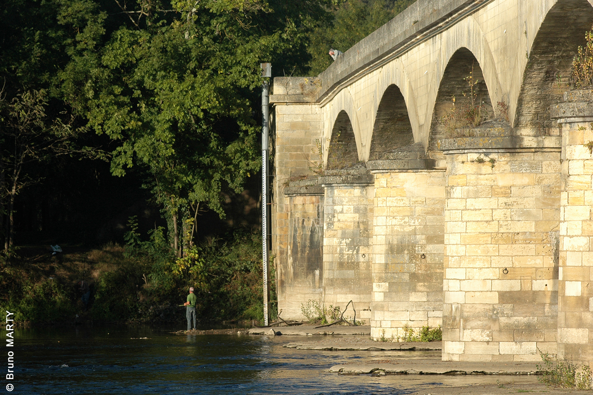 21 - Pont de Siorac - Marqueur de crue et d'étiage